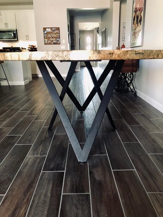 Modern Table Base, Pedestal, Dining Table Base, Metal Table Base Powder Coated Height VIVO 60.30