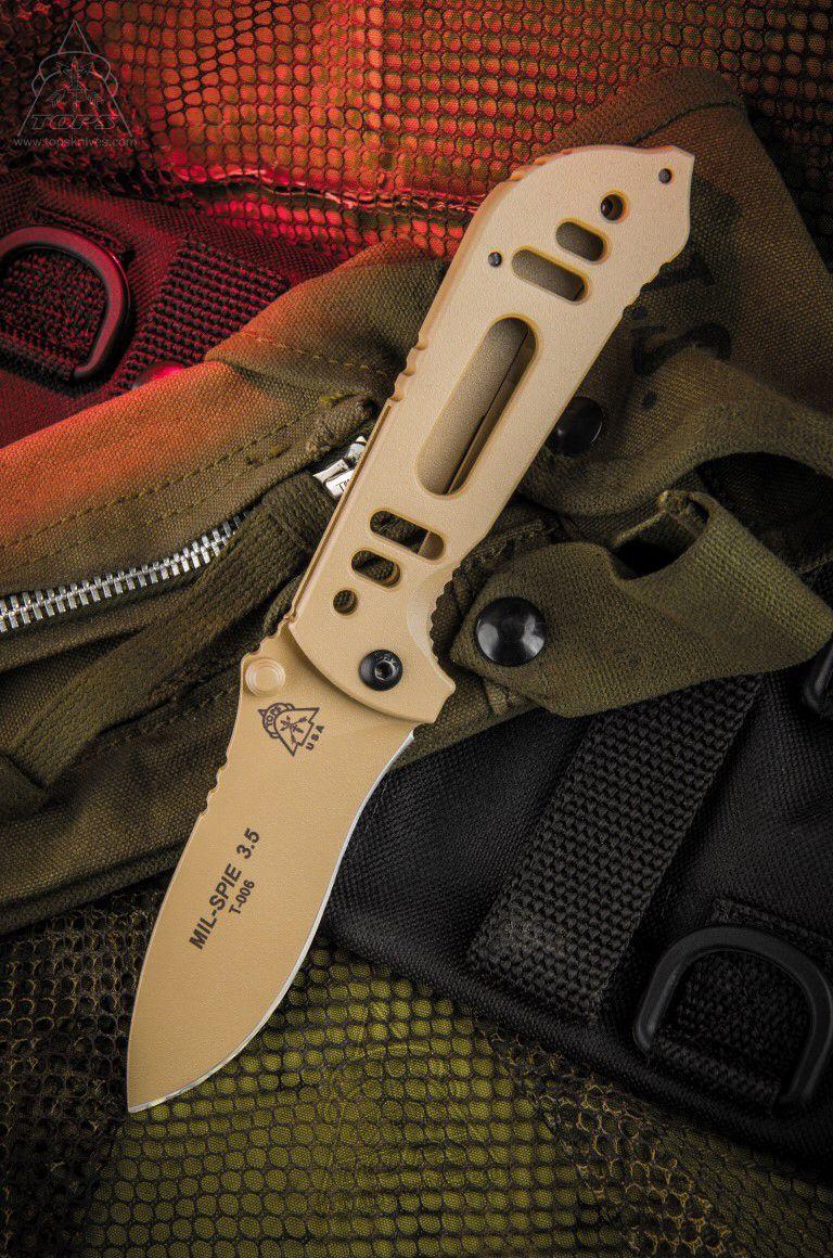 TOP KNIVES MIL-SPIE 3.5 Coyote Tan