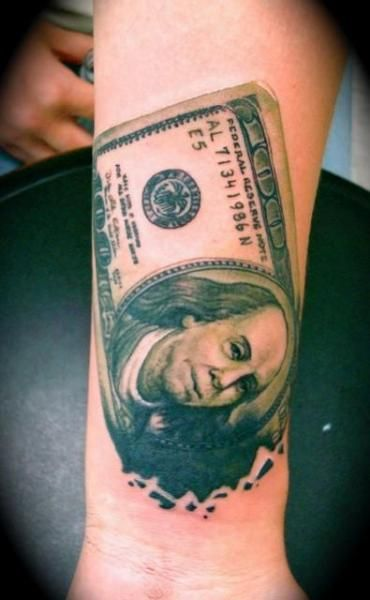Attached Images Money Stack Tattoo Designs | Money tattoo ...