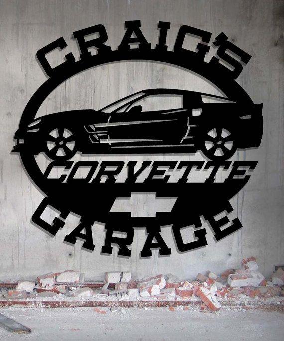 57 Chevrolet Garage Signe En Metal Sur Mesure Metal Wall Art Man Cave Wall Art Personalized Metal Signs Man Cave Gifts