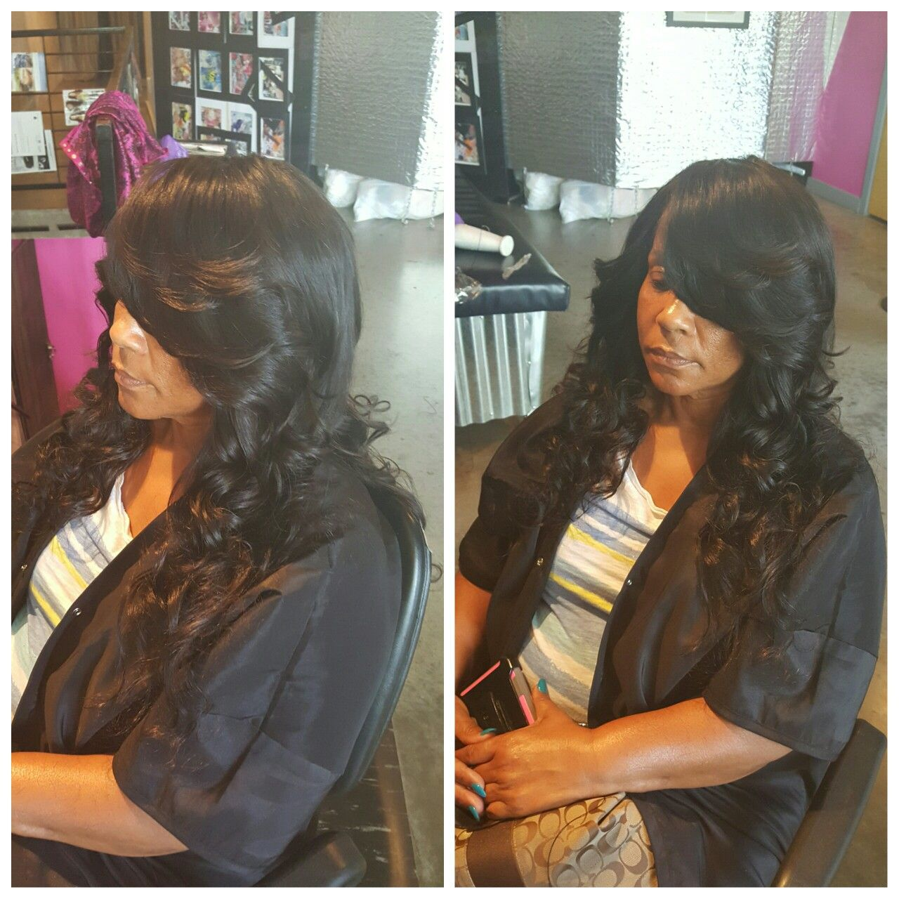 Diva Full Sew In No Leave Out Chakyashaircouture Travelingstylist Getcoutured Full Sew In Hairstyles Sew In Weave Hairstyles Natural Hair Styles