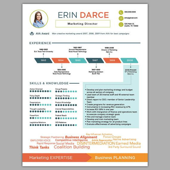 Customized Infographic Resume Is A Creative Way To Make An