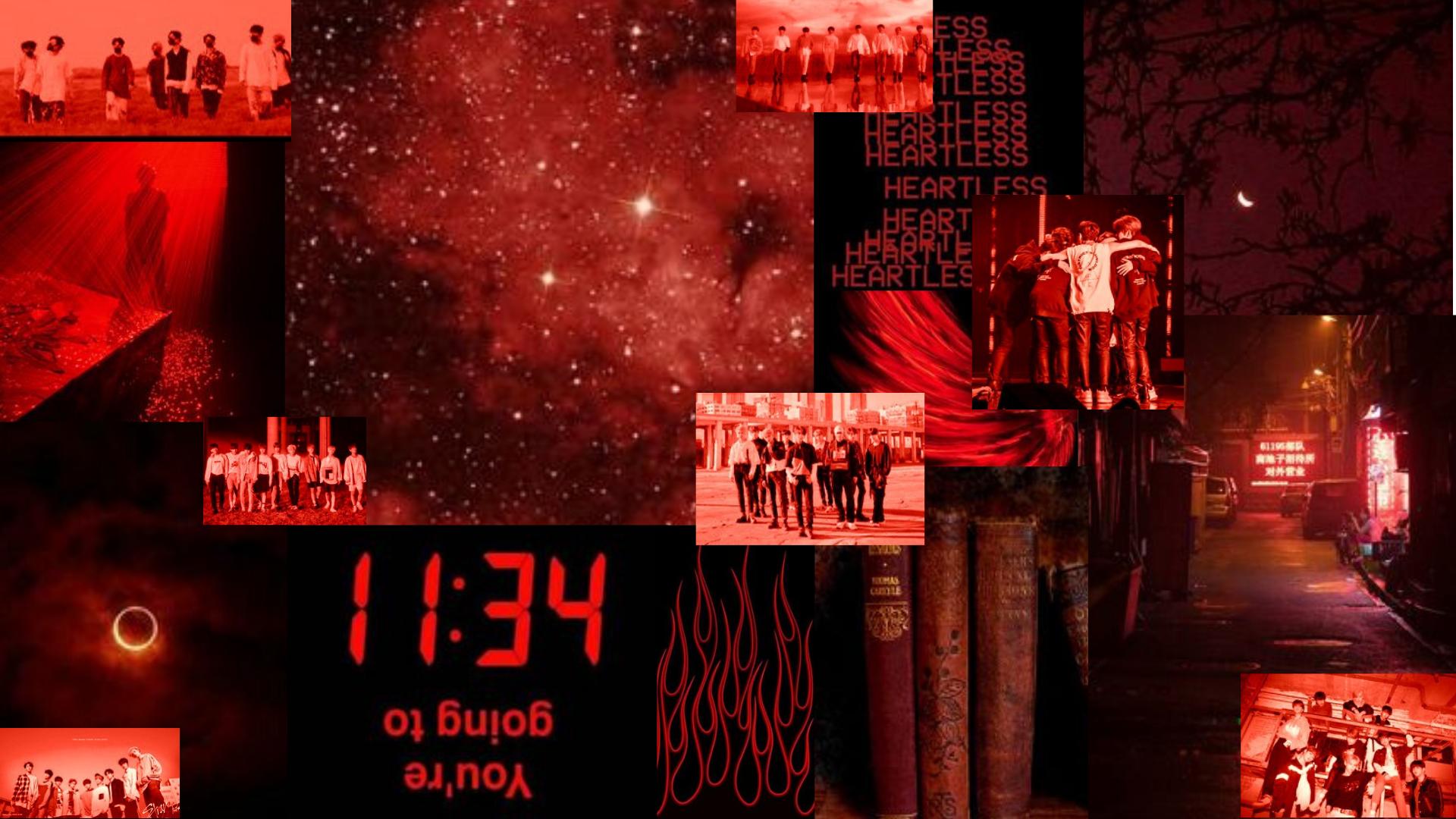 Stray Kids Dark Red Aesthetic Desktop Wallpaper Collage By Reia In 2020 Aesthetic Desktop Wallpaper Desktop Wallpaper Red Aesthetic