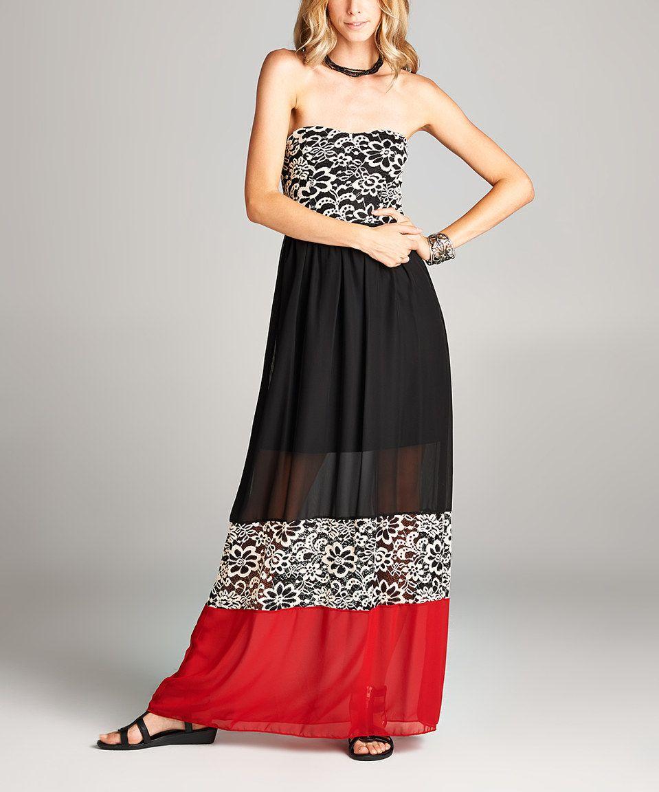 Look at this zulilyfind love kuza black u red color block