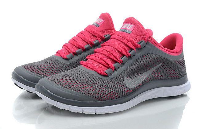 Nike Free 3.0 V5 Womens Grey Pink Click Image to Close