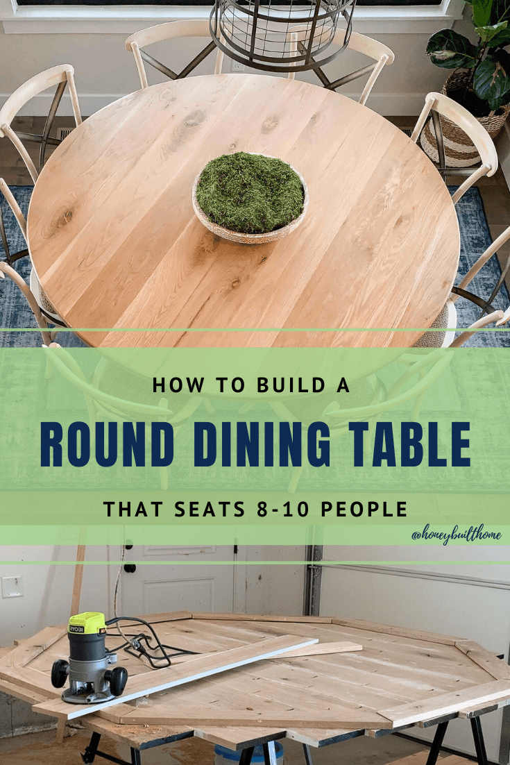 "How to Build a 70"" Round Dining Table 