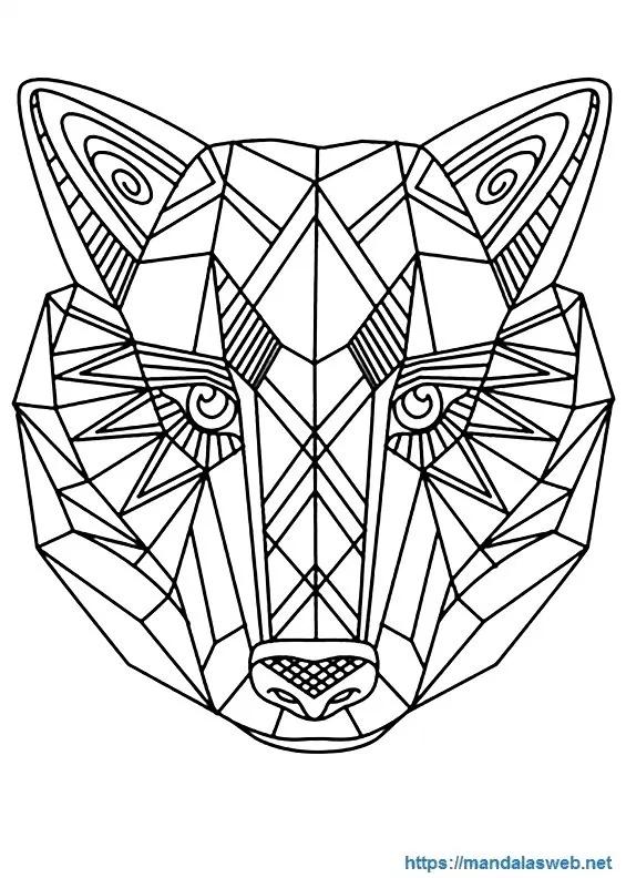 Mandalas Faciles Para Colorear Tattoos Ideas Paginas Para Colorear De Animales Mandalas De Lobos Paginas Para Colorear