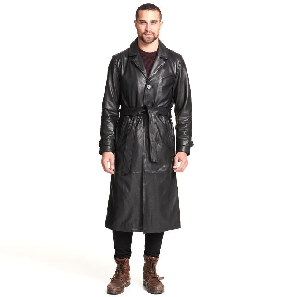 Wilsons Leather Belted Trench Coat 519 99 Our Price Now Mens Leather Coats Trench Coat Casual Wear For Men [ 1000 x 1000 Pixel ]