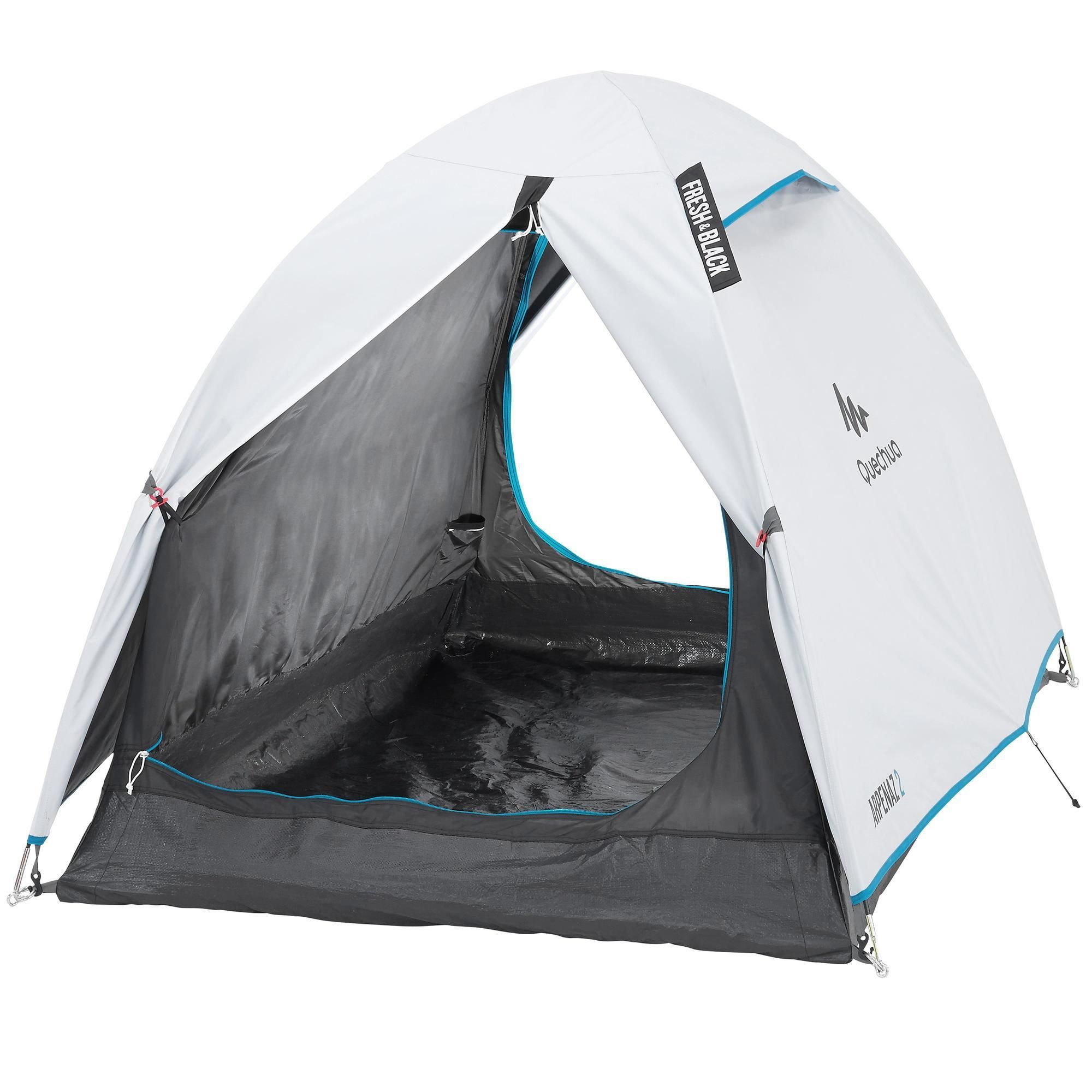Kampeertent Arpenaz Fresh Black 2 Personen In 2020 Kamperen Met De Tent Tent Kamperen