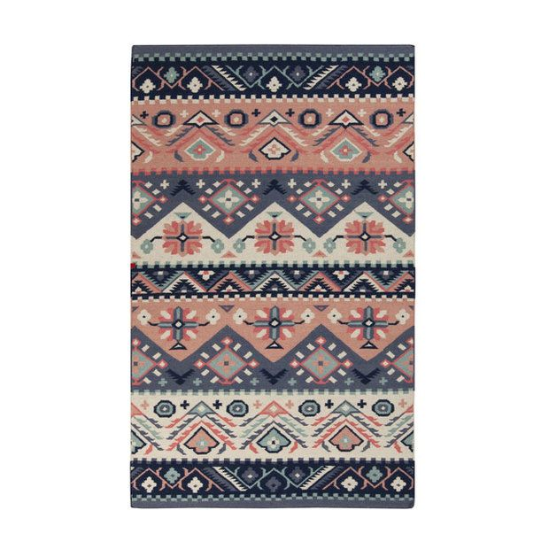 Mountains and Rivers Rug - What do you think about this? It comes in 5x8 or 8x11 so you wouldn't have to layer rugs if you didn't want to.