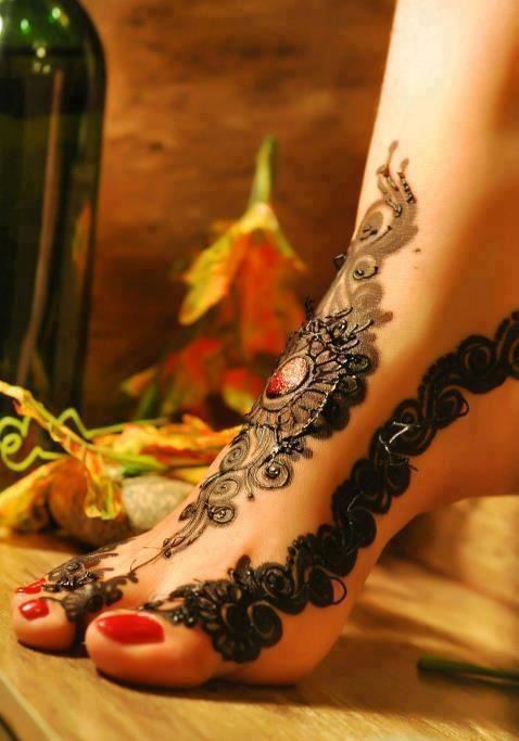 Beautiful Feet Mehndi Designs : Most beautiful feet mehndi designs for girls agged