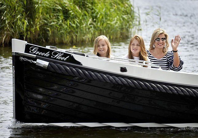 Dutch Royal Family pose for the media during the annual photo session at the Kagerplassen in Warmond