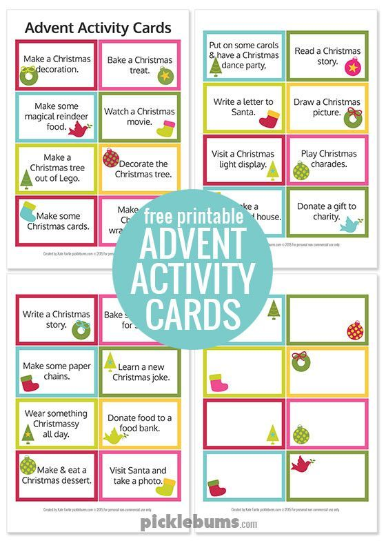Advent Calendar Printables | Advent activities, Free printable and ...
