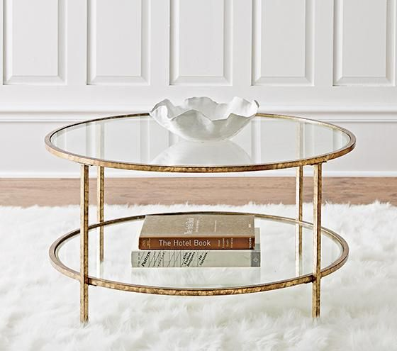 Pin By Home Decorators Collection On Coffe Table In 2020 Gold Coffee Table Round Glass Coffee Table Gold Glass Coffee Table