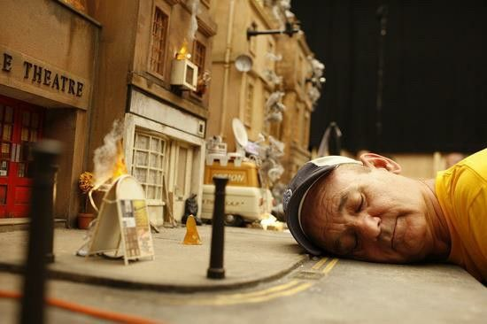 """Bill Murray on the set of """" the fantastic mr. Fox"""""""