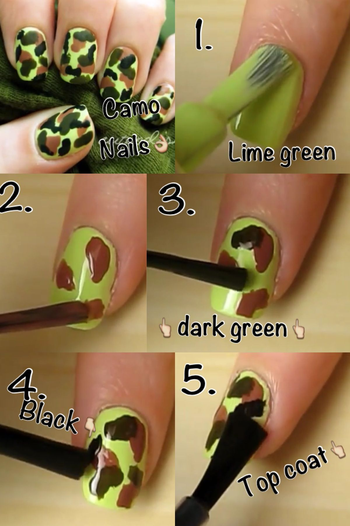 DIY camo nails. (NO tools required) 👌