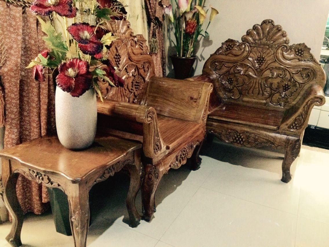 Narra Cleopatra Sala Set Sala Set Beautiful Chair Wood Chair