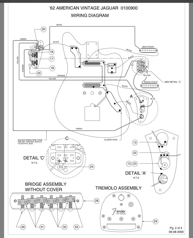 fender jaguar bass wiring kit fender jaguar ---- layout and wiring diagram | gitar ...