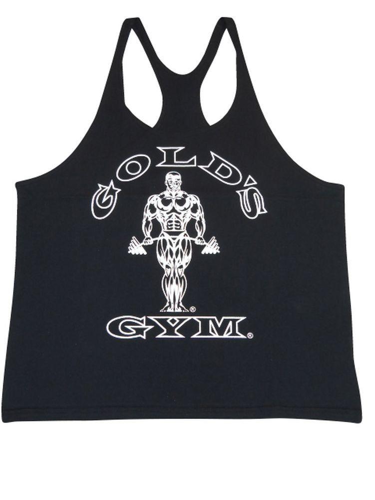 b5082db2c07fe Gold s Gym Stringer Y-Back Tank Top- Black- M