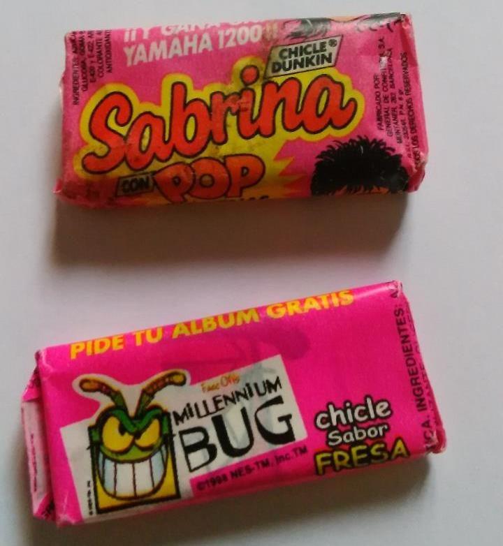 Carteles antiguos de publicidad- Chicles Sabrina Pop