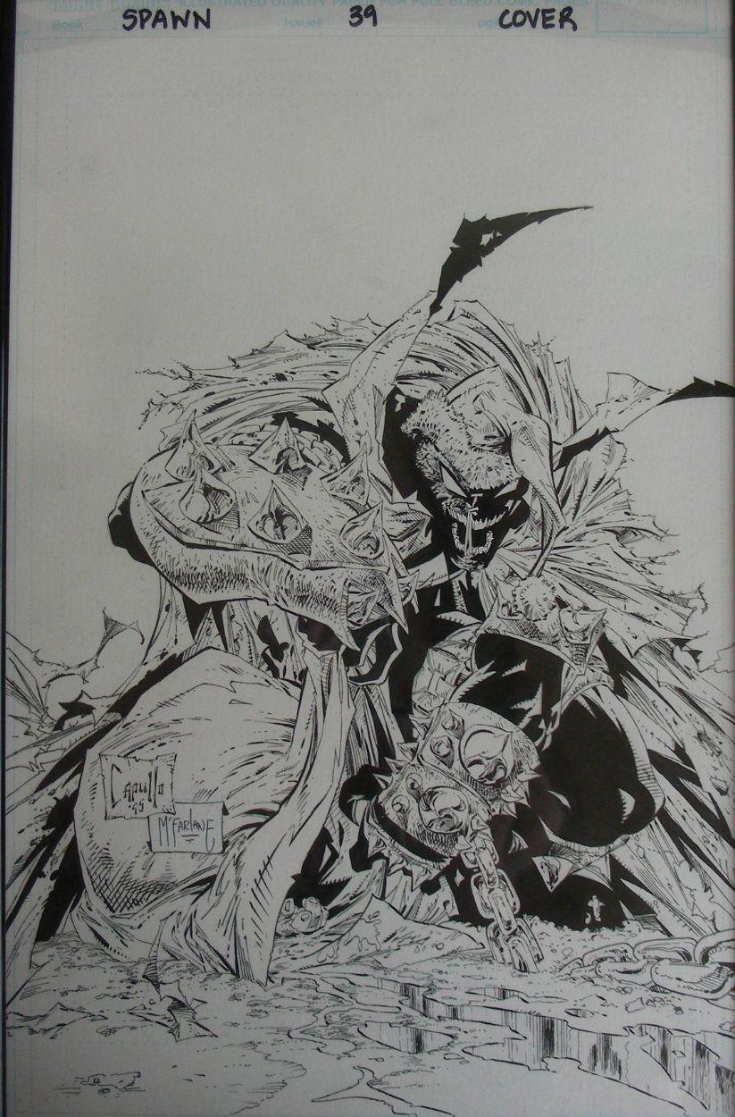 Todd Mcfarlane Sketch Comic Book Art Mic