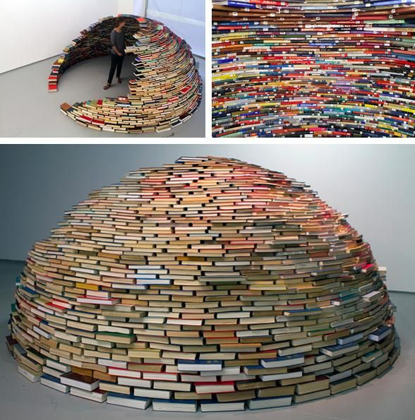 An igloo made entirely of books :O
