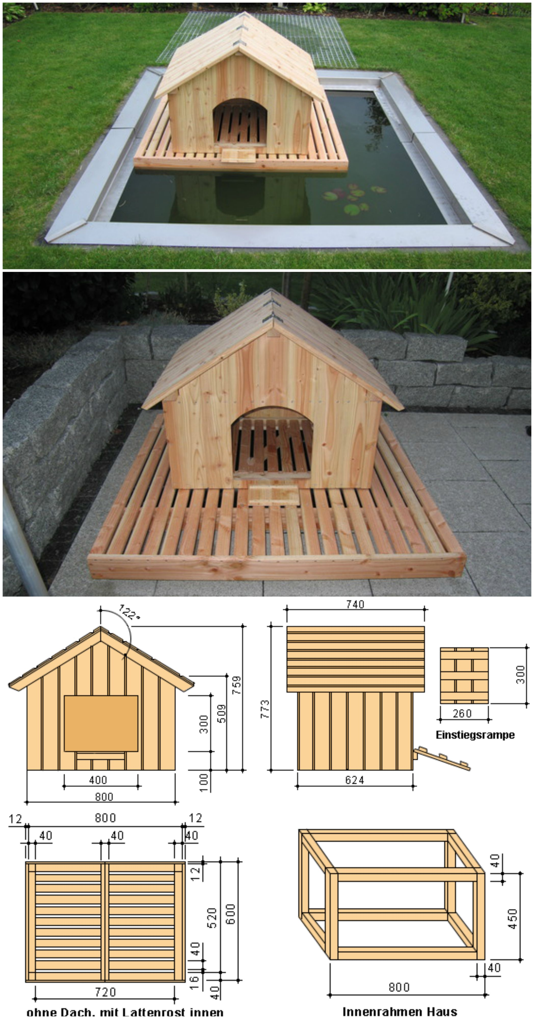 How To Build A Floating Duck House Ducks Duck House