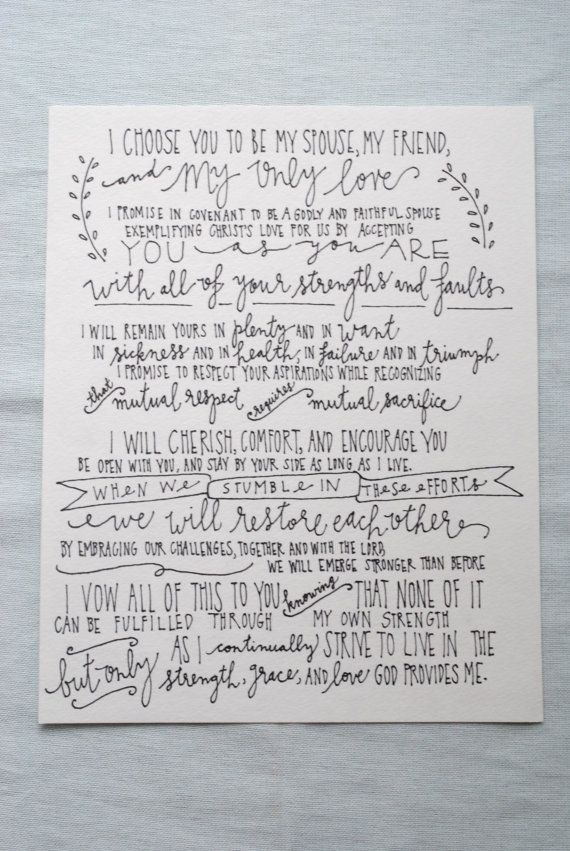 Have My Vows Professional Written In Pretty Handwriting Wedding Vows Hand Lettered Wedding Vows