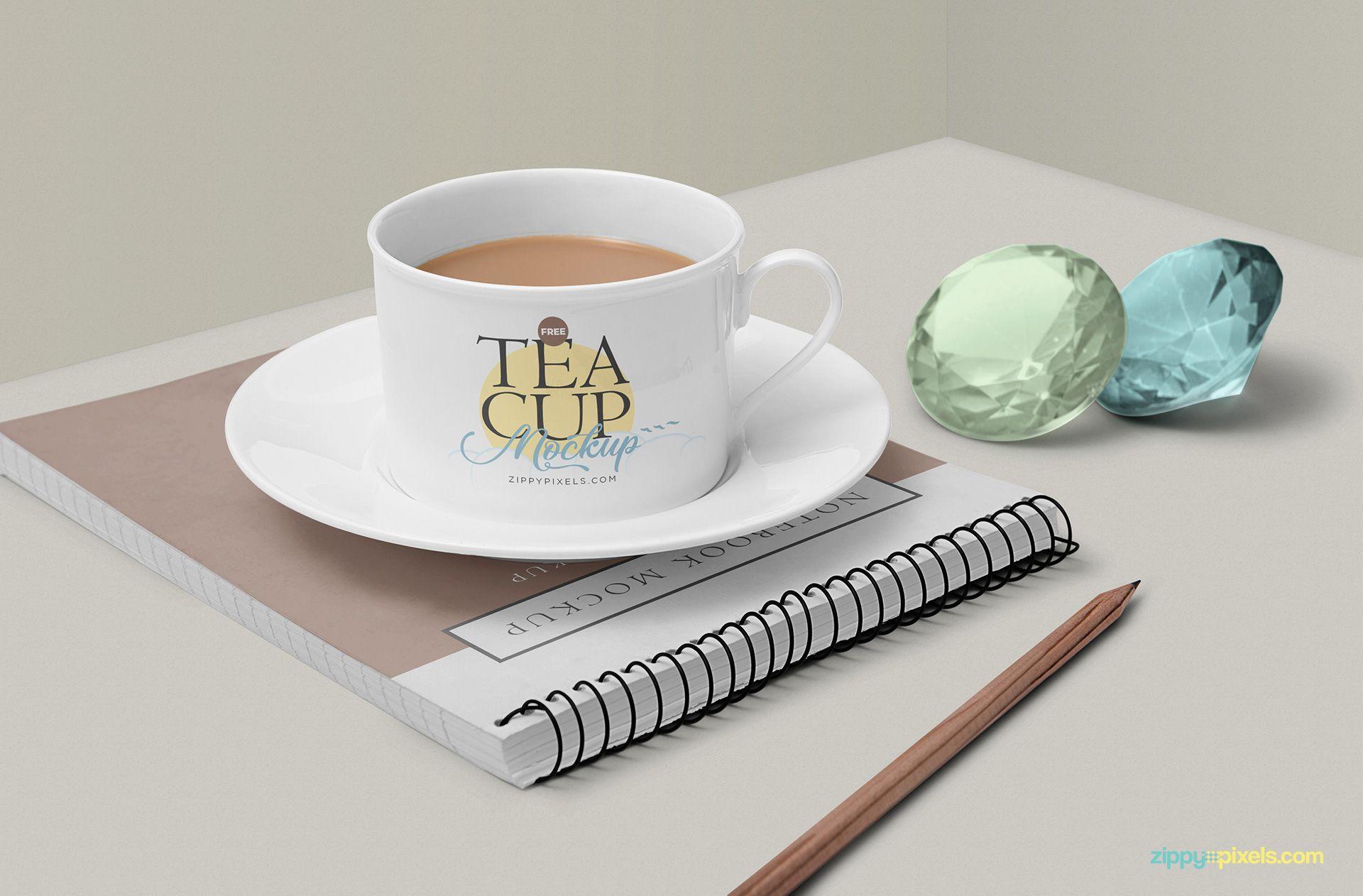 Free Tea Cup Mockup Scene Zippypixels Free Tea Tea Cups Tea