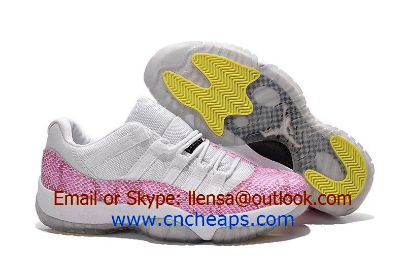 Women air jordan 11 low pink snake white basketball shoes we offer good  quality women jordan 38e159fce3