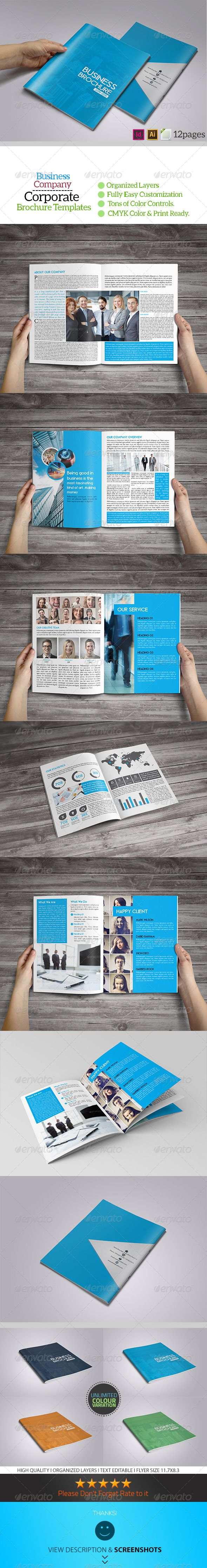 12 Page Business Brochure Template Pinterest Brochure Template