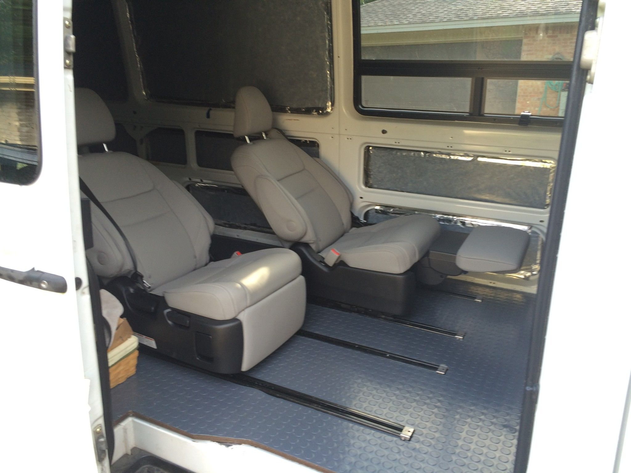 van sofa bed seat good housekeeping uk sofas toyota sienna reclining chairs in my sprinter