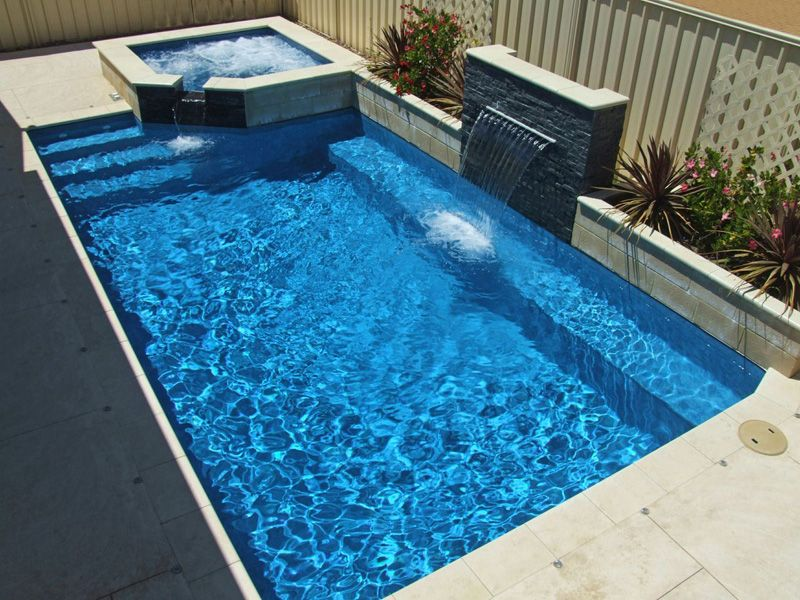 Bay Pools Spas Swimming Pool Vinyl Lined Fibreglass