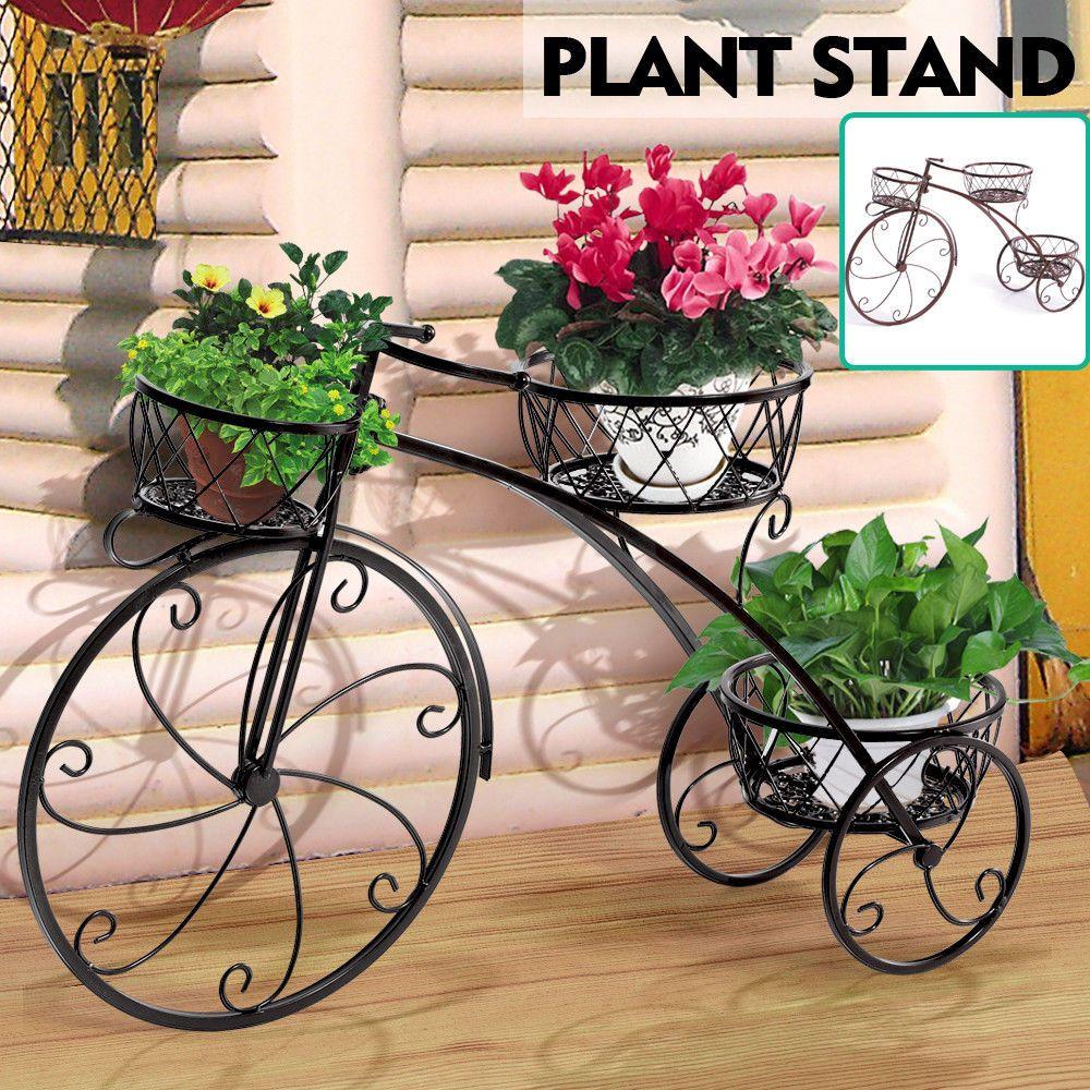 Details about levede outdoor indoor metal flower pots