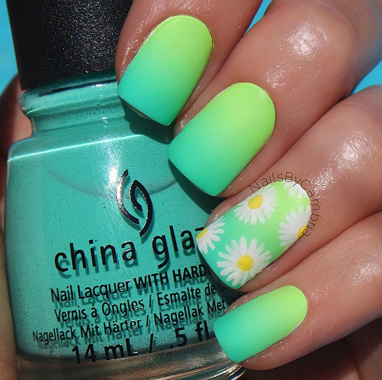 Ombre daisy nails | Nails nails nails | Pinterest | Daisy nails ...