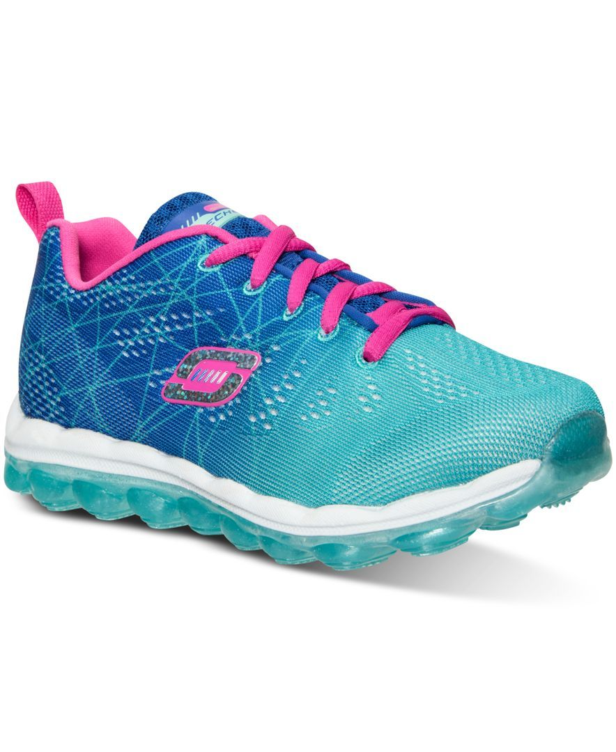 Skechers Little Girls' Skech-Air- Laser Lite Sneakers from Finish Line -  Finish Line Athletic Shoes - Kids & Baby - Macy's