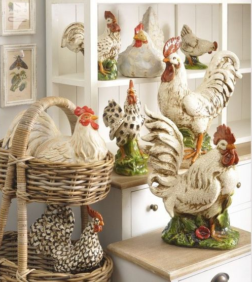 Display Your Chicken Collection Rooster Decor Rooster Kitchen