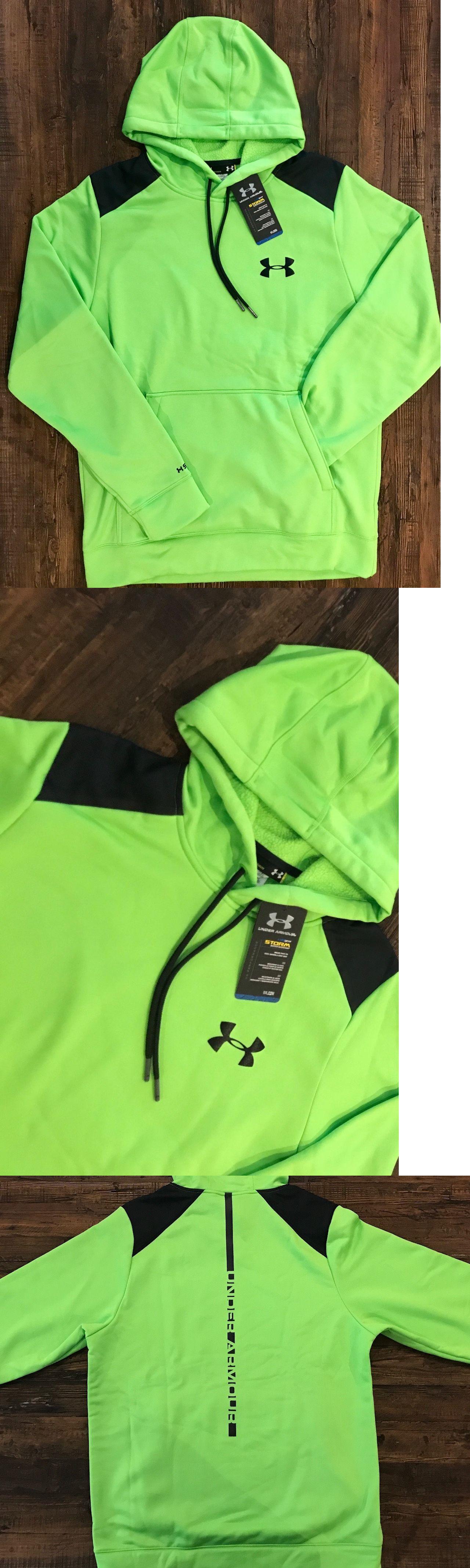 Sweats and Hoodies 155183: Under Armour Men S Ua Storm Armour Fleece Marauder Hoodie 1248325 Gecko Green -> BUY IT NOW ONLY: $34.98 on eBay!