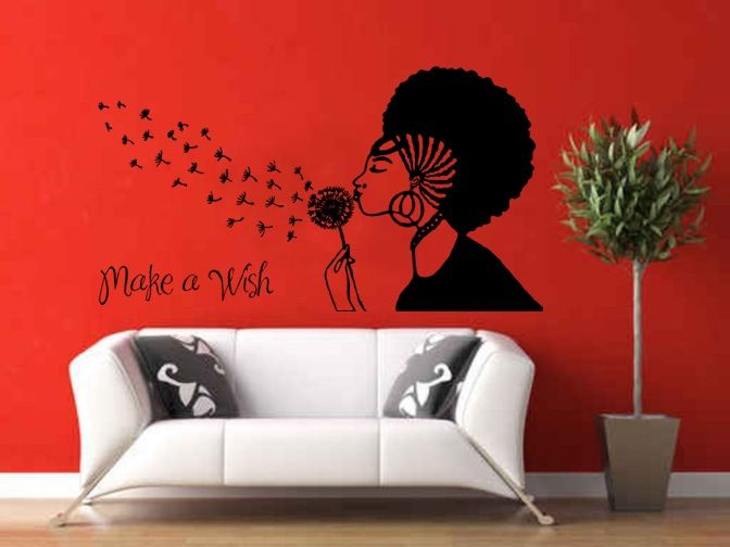 The Make A Wish Wall Decal Mohawk Styles Custom Vinyl - Make custom vinyl wall decals
