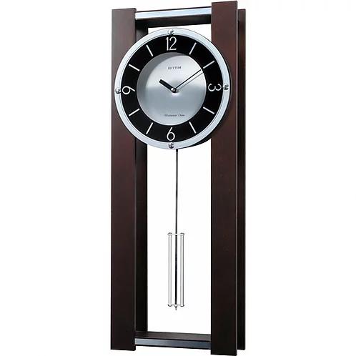 Home Accents Clocks Modern Pendulum Wall Clock In Rich Espresso Plays Paredeshome Pendulum Wall Clock Wall Clock Clock