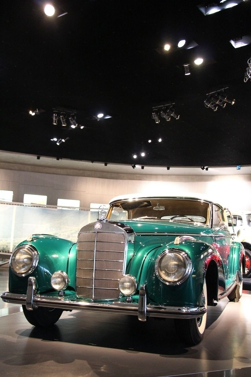 1954 Mercedes-Benz 300S Cabriolet A. The two-door convertible was based on the Mercedes 300 but was fittet with an even more powerful engine. 183 cu in displacement, 108 mph top speed, 6 cylinder. Photo by @JensStratmann