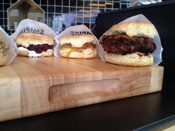 Lauren Scala visited Empire Biscuit for some delicious hot biscuits at 198 Ave. A, NYC!