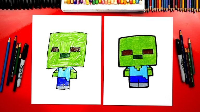 How To Draw A Minecraft Zombie Art For Kids Hub Dessin
