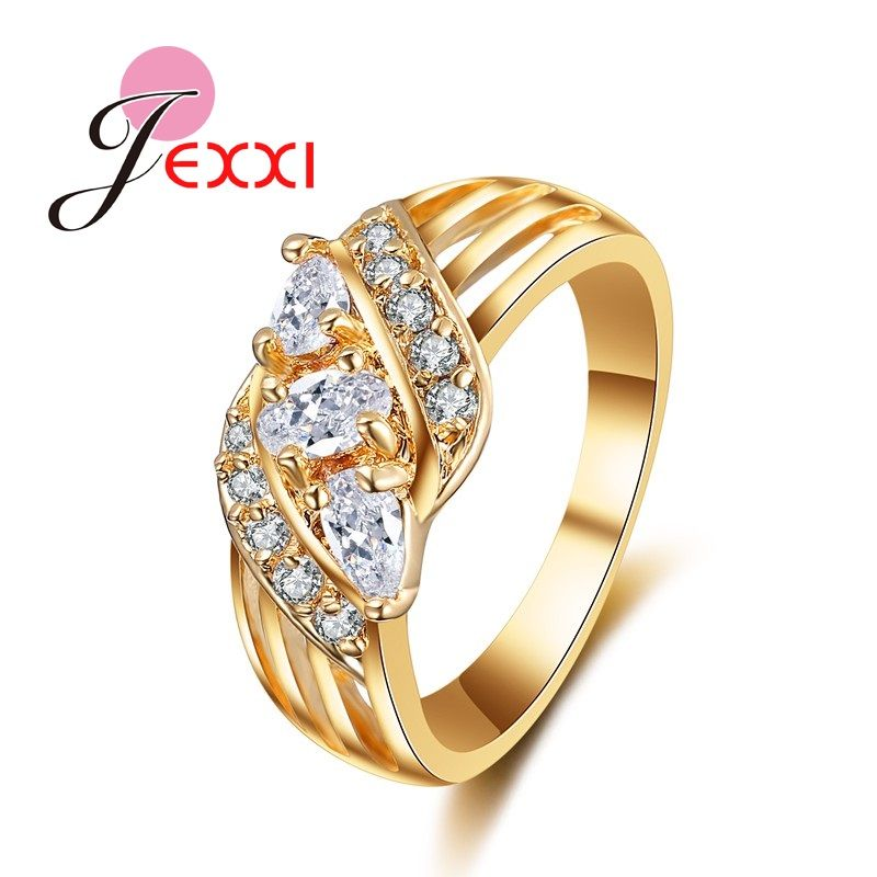 JEXXI Wholesale Price Elegance Ring for Women Vogue White CZ ...