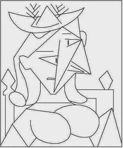Pintores famosos Pablo Picasso para nios Cuadros para colorear