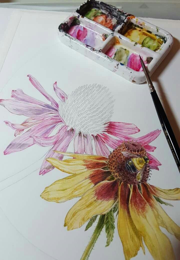 Pin Von Ingrid Auf Blumen Blumen Aquarell
