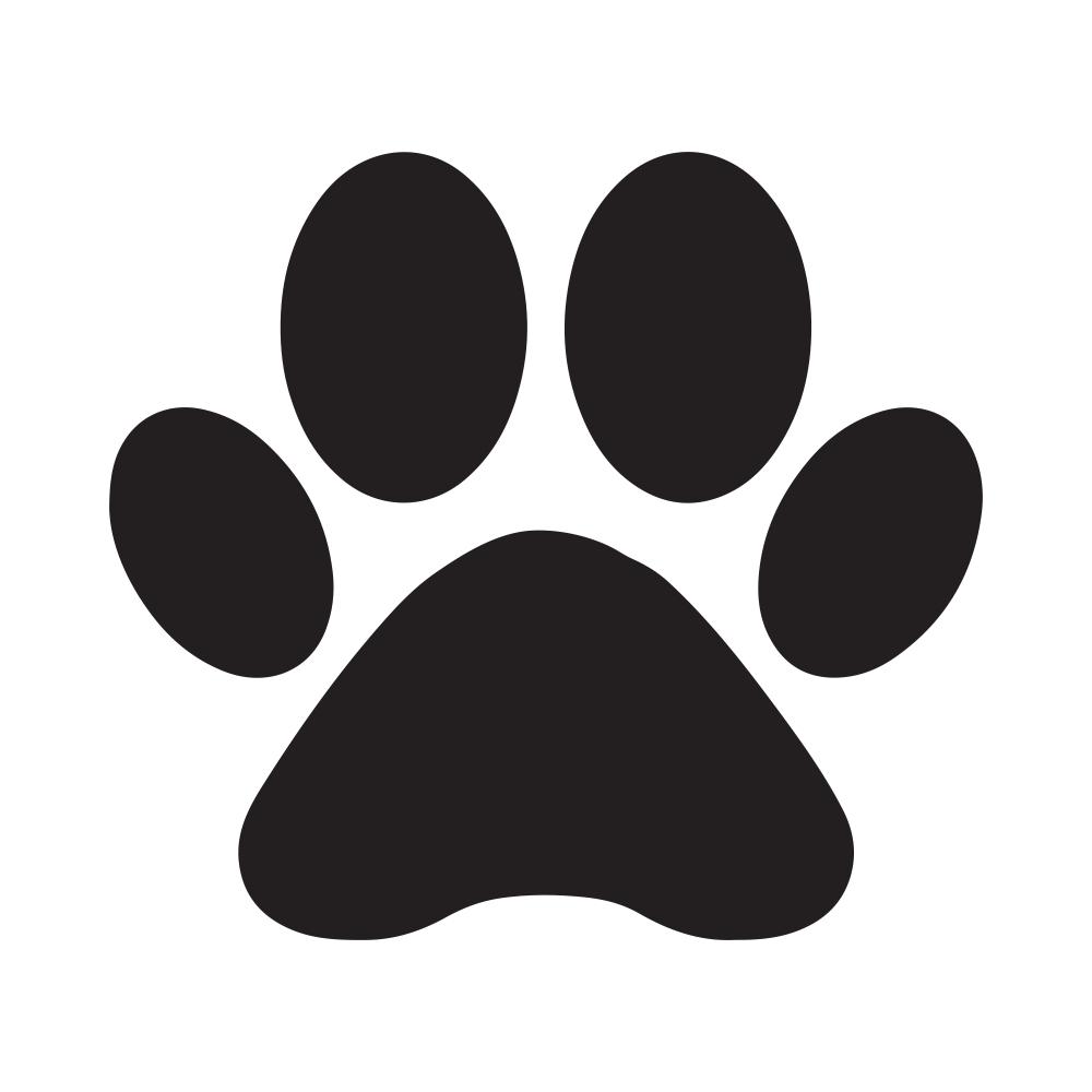 Black Silhouette Cat Dog Paw Footprint Dog Silhouette Cat Footprint Footprint