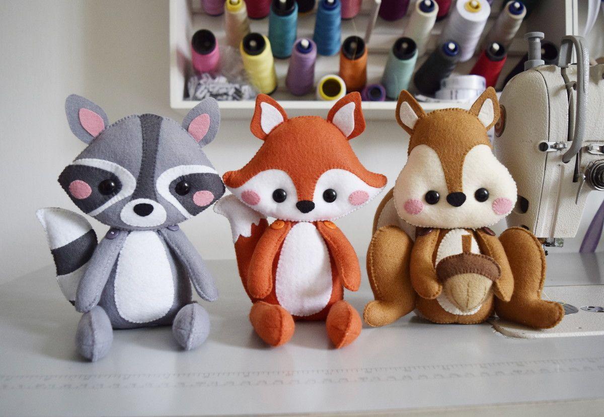 Bichinhos Da Floresta De Feltro Com Imagens Brinquedos De