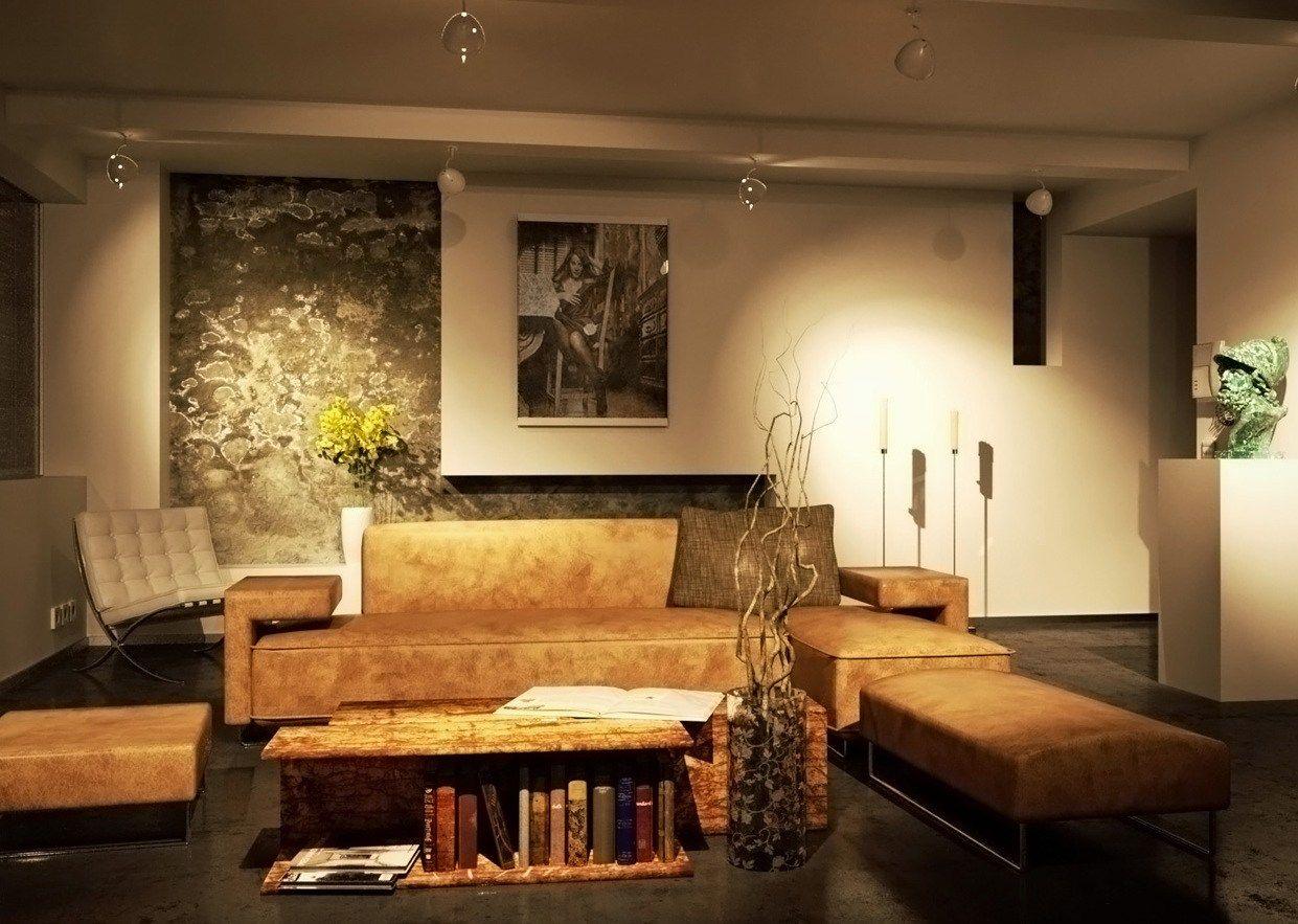 Farbgestaltung Wohnzimmer Braun | Beige Als Wandfarbe Dezent ...