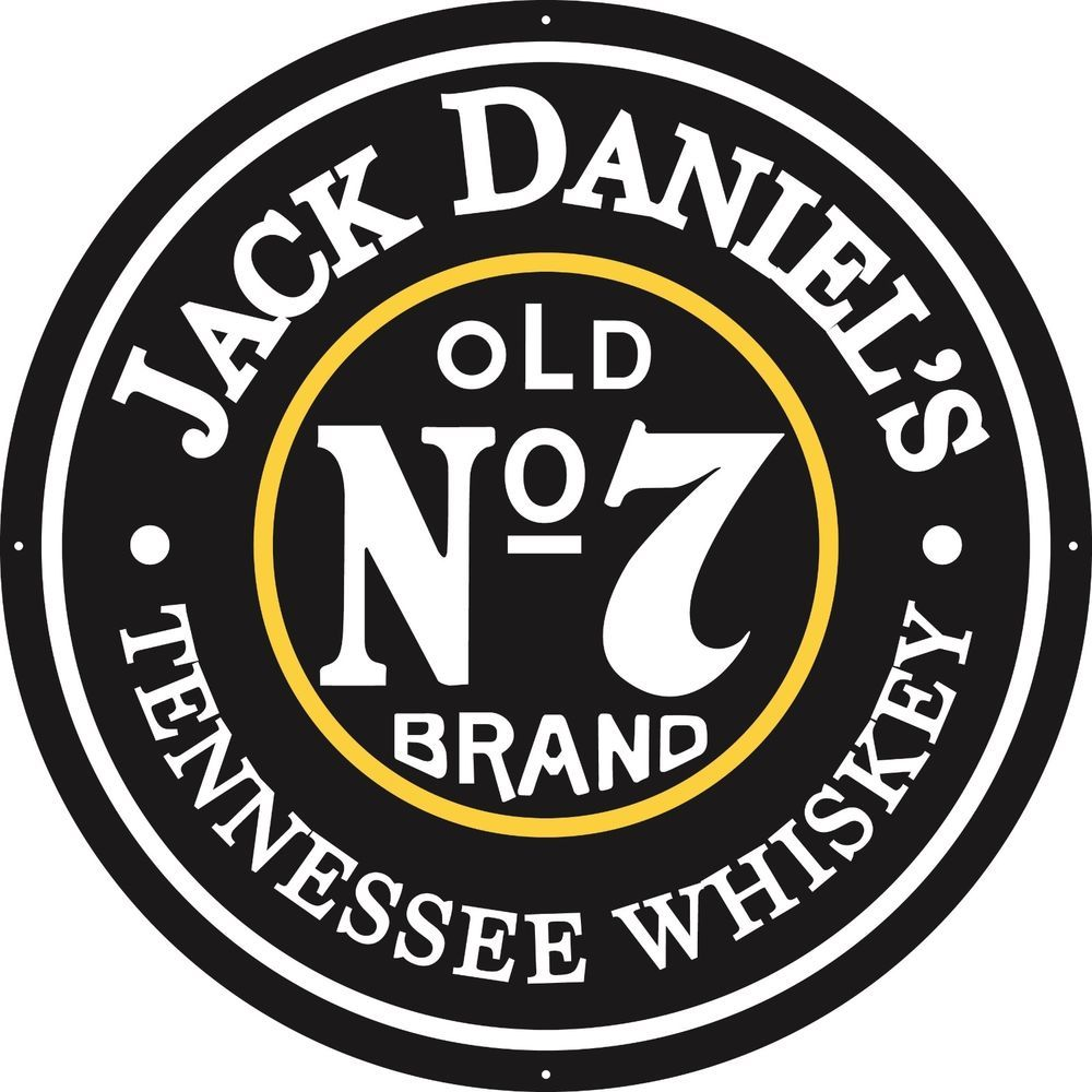 """Jack Daniels Old No. 7 Tennessee Whiskey 36"""" Round Metal"""